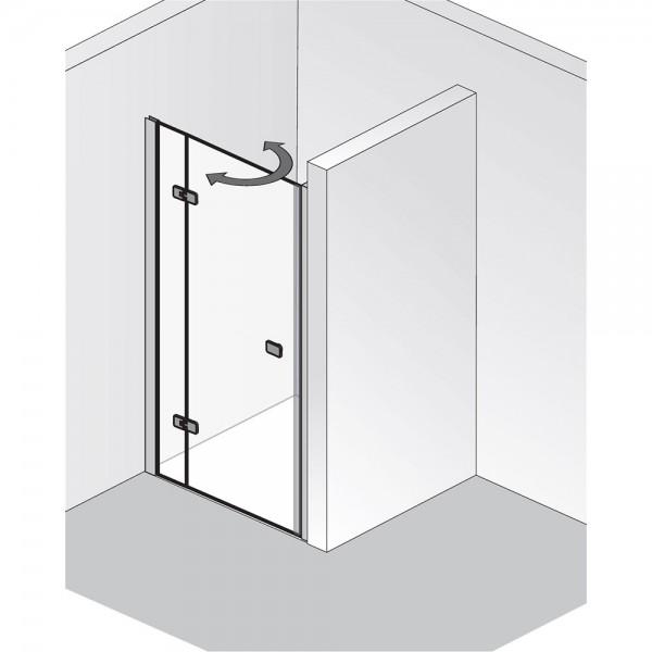 HSK Premium Softcube Drehtür pendelbar Nische