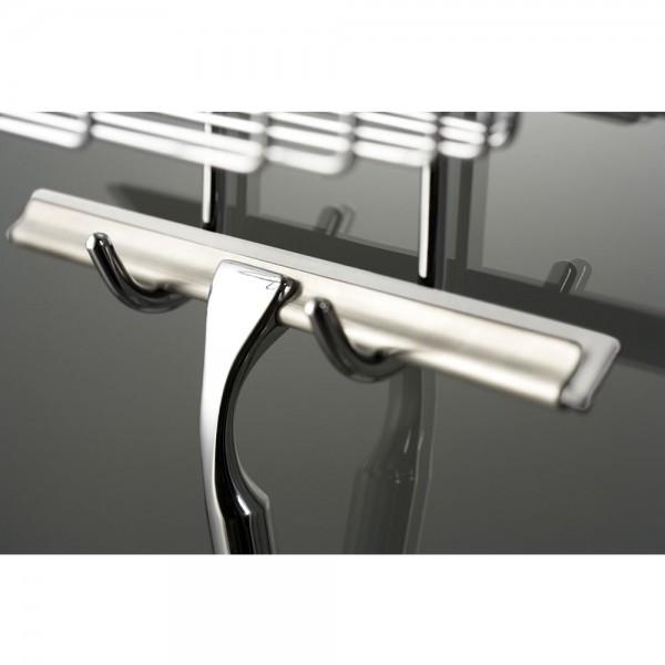 HSK Glaswischer aus Metall inklusive Wandhaken