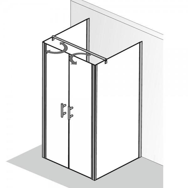 u form duschkabine hsk favorit nova pendelt r mit 2. Black Bedroom Furniture Sets. Home Design Ideas