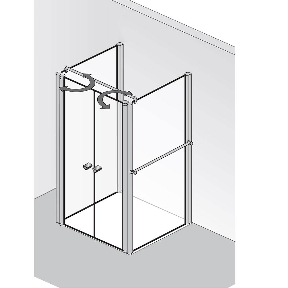 hsk exklusiv u form duschkabine mit pendelt ren hsk u. Black Bedroom Furniture Sets. Home Design Ideas