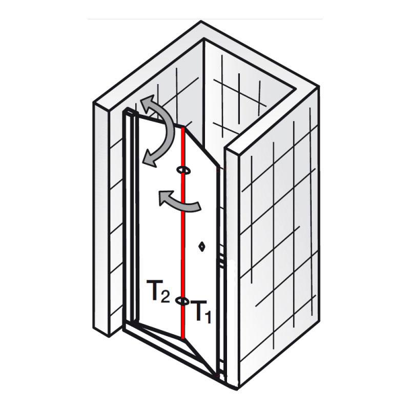dichtung vertikal et exklusiv drehfaltt r nische ersatzteile exklusiv ersatzteile hsk. Black Bedroom Furniture Sets. Home Design Ideas