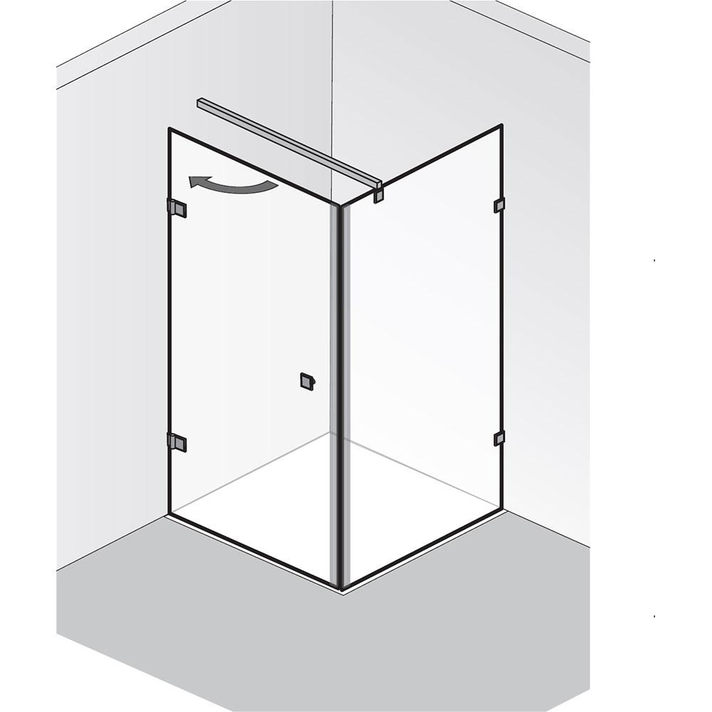 hsk atelier pur duschkabine dreht r mit seitenwand. Black Bedroom Furniture Sets. Home Design Ideas