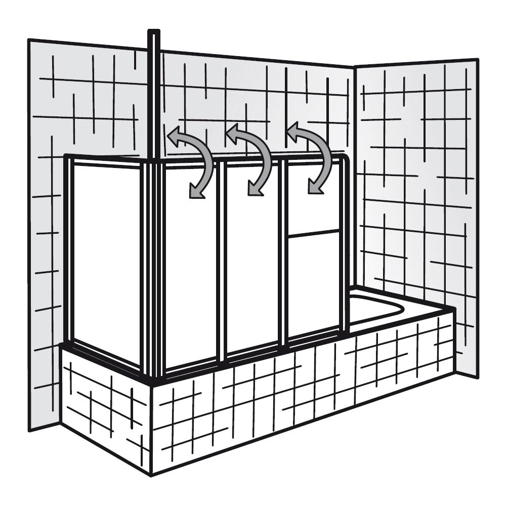 hsk badewannenaufsatz prima 263127 badewannenfaltwand. Black Bedroom Furniture Sets. Home Design Ideas