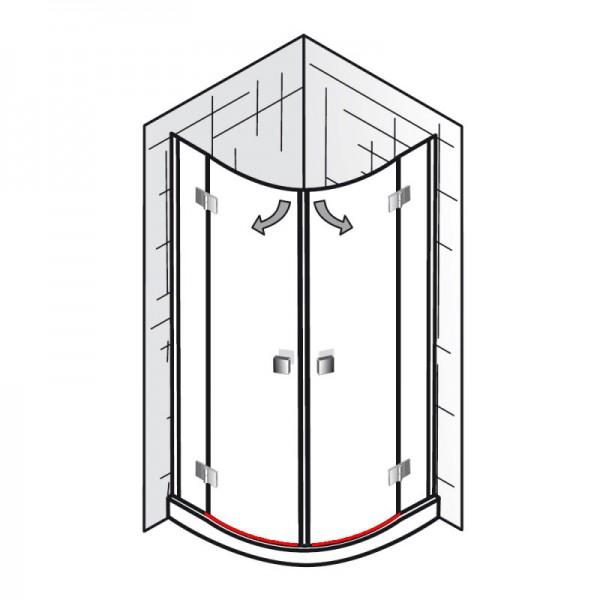 wasserabweisprofil inkl einschubdichtung et atelier runddusche 4 teilig ersatzteile. Black Bedroom Furniture Sets. Home Design Ideas