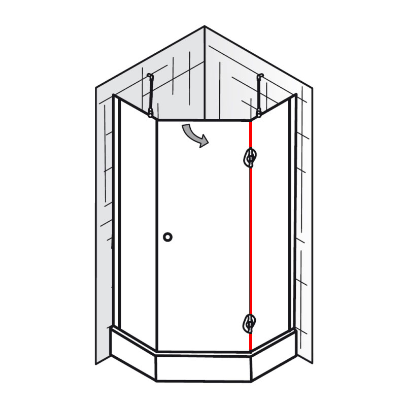 dichtung vertikal et premium f nfeckdusche 3 teilig ersatzteile premium classic. Black Bedroom Furniture Sets. Home Design Ideas