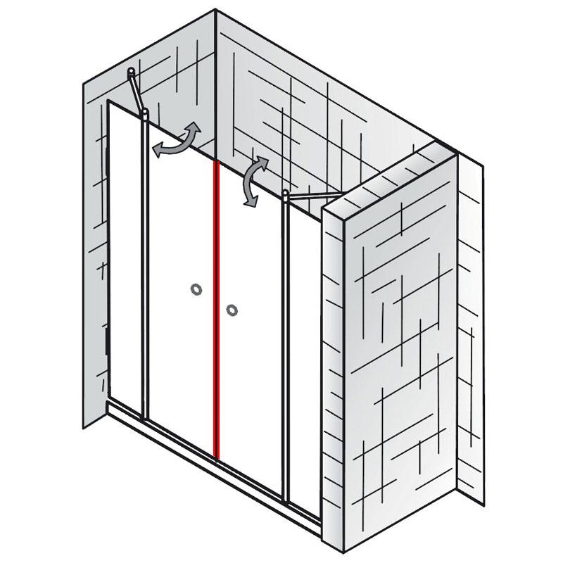 magnet et exklusiv raumnische 4 teilig ersatzteile. Black Bedroom Furniture Sets. Home Design Ideas