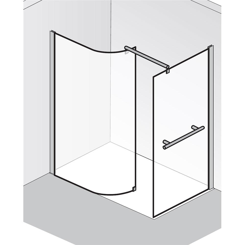 hsk walk in dusche premium 1 6201140 6206310 rundelement mit seitenwand. Black Bedroom Furniture Sets. Home Design Ideas