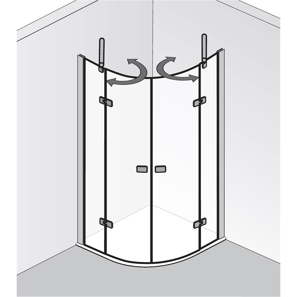 hsk premium softcube runddusche pendelbar 4 teilig hier bestellen. Black Bedroom Furniture Sets. Home Design Ideas