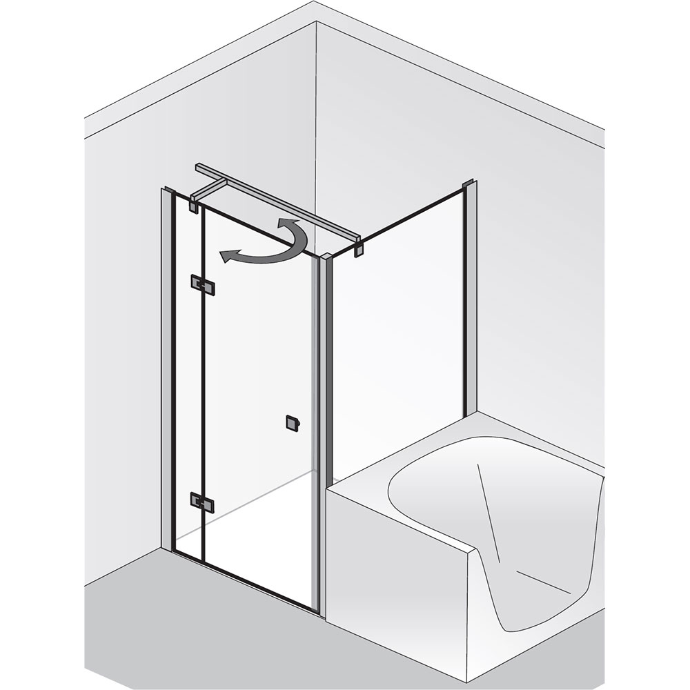 hsk atelier dreht r pendelbar mit verk rzter seitenwand hsk t r mit seitenwand hsk. Black Bedroom Furniture Sets. Home Design Ideas