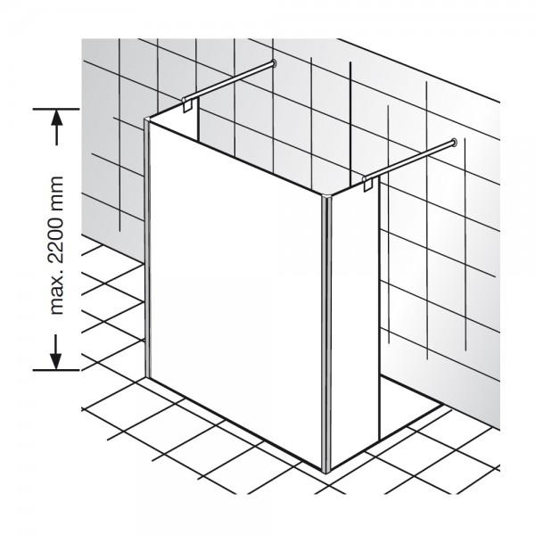 HSK Walk In Atelier Pur Glaselement 2 Seitenteile