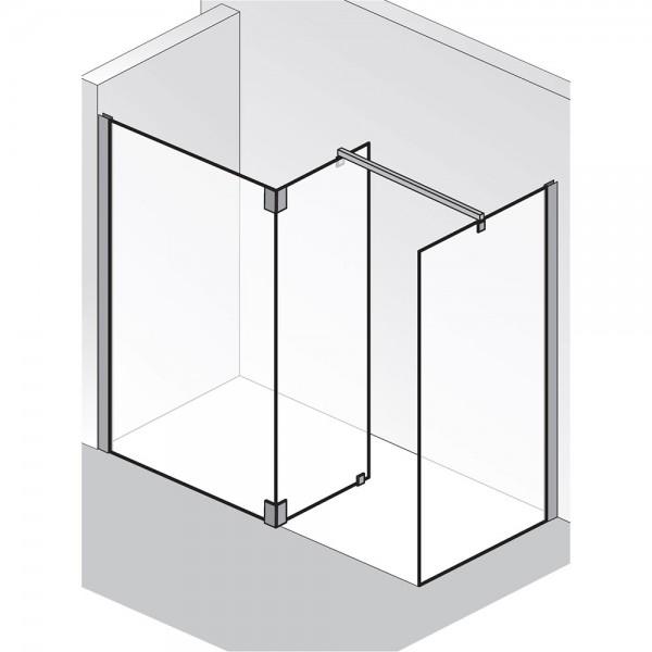 HSK Walk In K2P Glaselement mit Seitenteil + Seitenwand