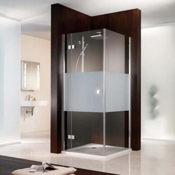 HSK Atelier Eck Duschkabine mit Drehtür & Seitenwand aus Glas
