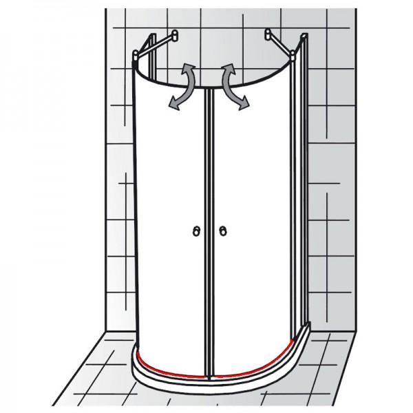 Wasserabweisprofil inkl. Endkappen + Einschubdichtung