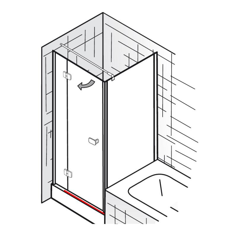 wasserleiste inkl endkappen et softcube dreht r mit verk rzter seitenwand ersatzteile. Black Bedroom Furniture Sets. Home Design Ideas