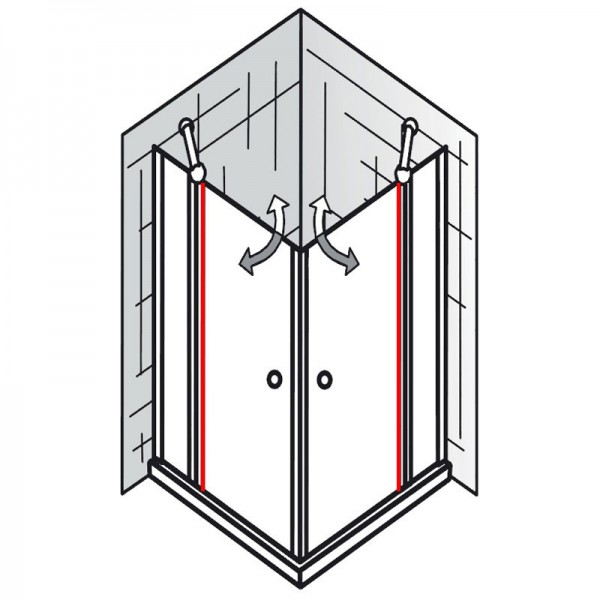 au endichtung et exklusiv eckeinstieg 4 teilig ersatzteile exklusiv ersatzteile hsk. Black Bedroom Furniture Sets. Home Design Ideas