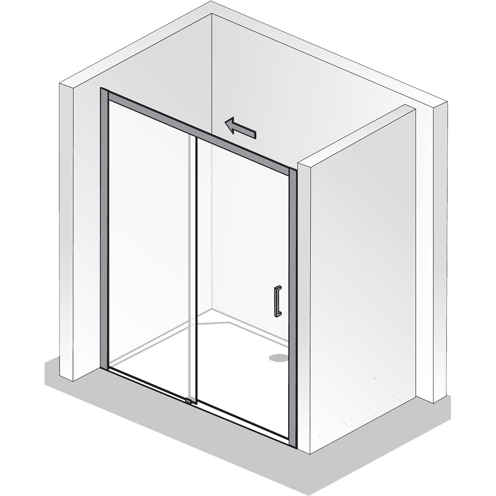 hsk duscht r nischent r solida 1500120 gleitt r 2 teilig bodenfrei nische. Black Bedroom Furniture Sets. Home Design Ideas