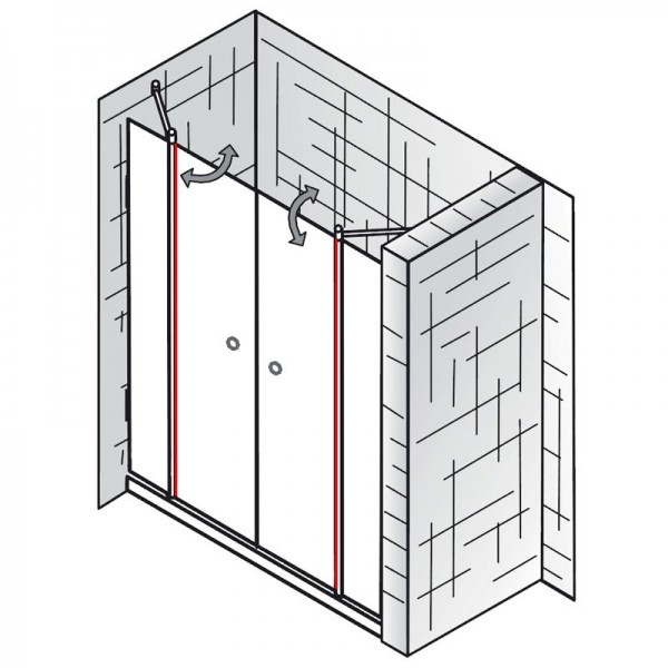 au endichtung et exklusiv raumnische 4 teilig ersatzteile exklusiv ersatzteile hsk. Black Bedroom Furniture Sets. Home Design Ideas