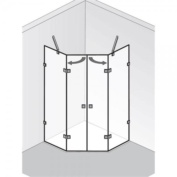 HSK Atelier Pur AP.62 2 Drehtüren und 2 Seitenteile