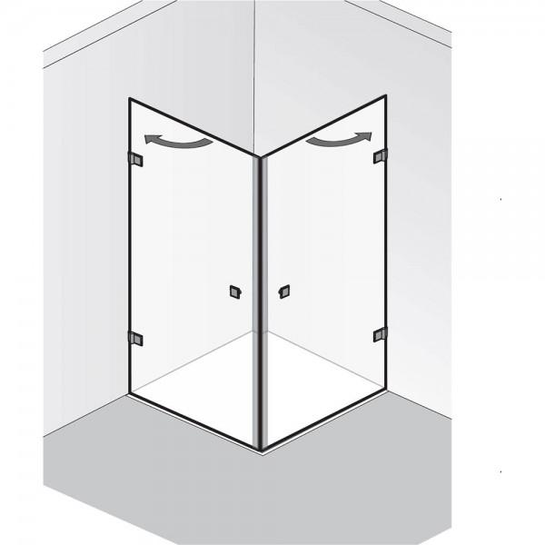HSK Atelier Pur AP.27 Eckeinstieg 2 Drehtüren