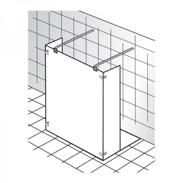 HSK Walk In KIENLE - Glaselement mit 2 Seitenteilen