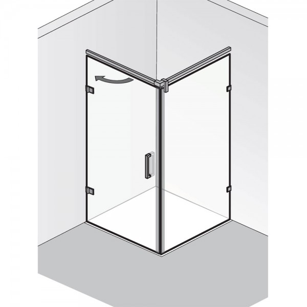 HSK Atelier Plan Pur Drehtür mit Seitenwand AP.220
