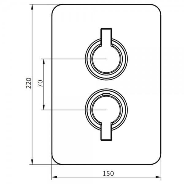 HSK Unterputz-Sicherheitsthermostat mit Absperrventil Softcube