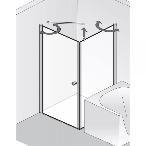 HSK EXKLUSIV - Drehtür, wegschwenkbare Glaswand