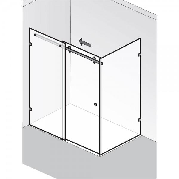 HSK AP.31 Atelier Pur - Gleittür 2-teilig mit Seitenwand